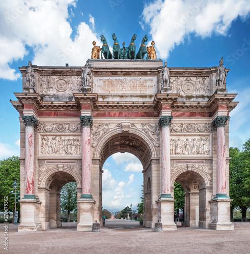Arc de Triomphe at the Place du Carrousel in Paris, France. Canvas Print