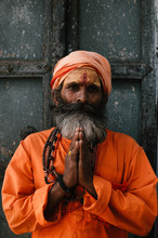 Bearded Indian Man Wearing Traditional Dress