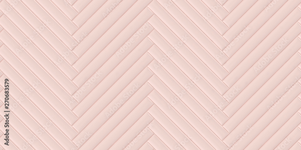 Soft convex wall panels, in light pink skin. Herringbone shape. High quality seamless realistic texture.