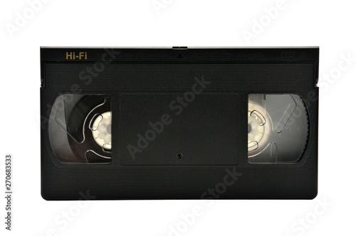 Fényképezés  Videotapes for home use on a white background.Videocassette