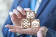 SAP Business Process Automation Software ERP Enterprise Resources Planning System Concept.