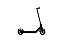 Vector Electric Scooter Icon Modern Flat Design On White Background