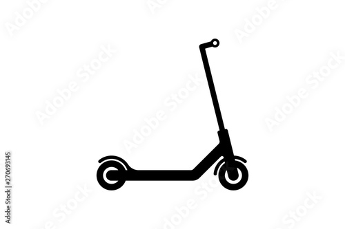 Vector electric scooter icon modern flat design on white background Tapéta, Fotótapéta