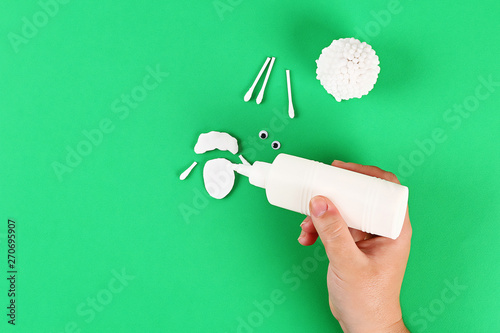 Valokuva Diy Eid al adha lamb sheep cotton pads, cotton buds, swabs Gift idea, decor Eid