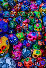 Colorful Mexican Ceramic Skull...