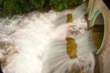 Rushing Water In Culvert, Elk ...