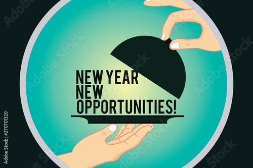 Fényképezés  Word writing text New Year New Opportunities