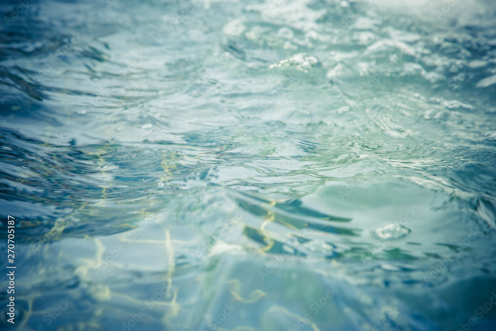 Fototapety, obrazy: Blue water wave