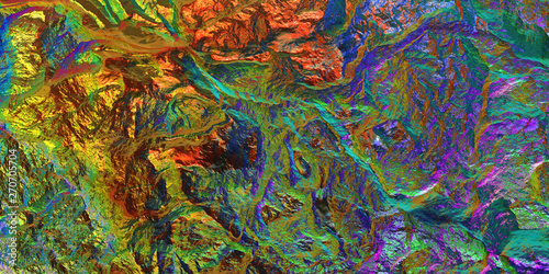 Papiers peints Cameleon Holographic gradient background. Colored light on textured surface. Chameleon stone rock surface texture.