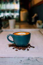 Taza De Café En Cafetería