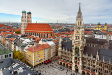 Aerial Cityscape Of Munich His...