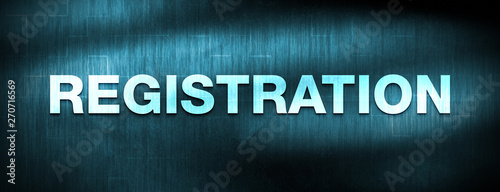 Photo  Registration abstract blue banner background