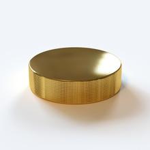 Gold Ice Hockey Puck