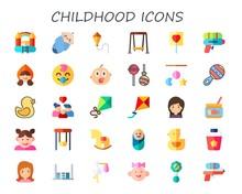Childhood Icon Set