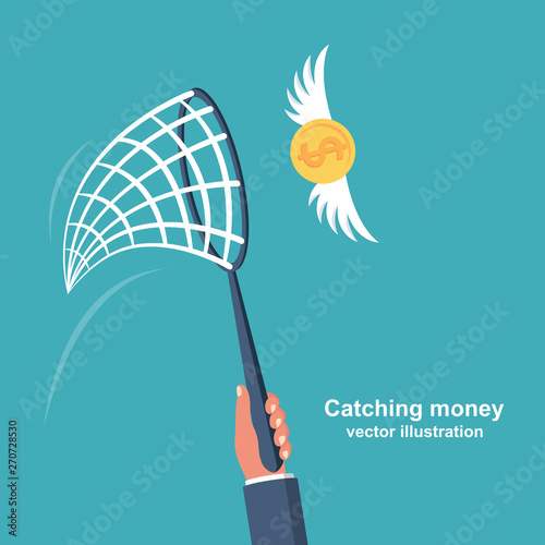 Foto Chasing money concept