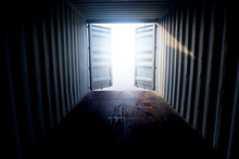 Inside The Container With Open...
