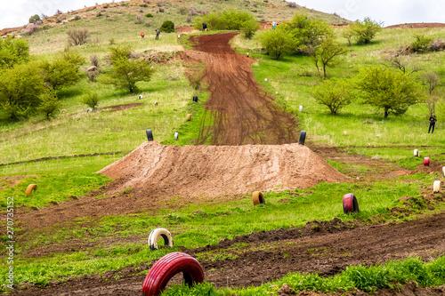 Stampa su Tela Motocross track in spring