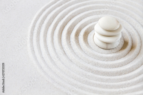 Recess Fitting Stones in Sand Zen japanese garden background