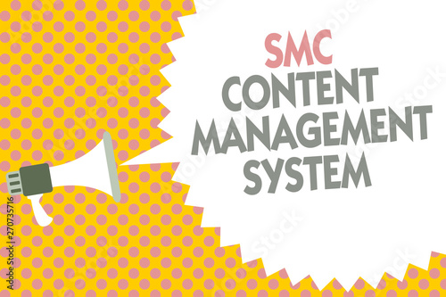 Photo  Conceptual hand writing showing Smc Content Management System