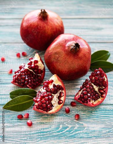 Fototapeta Ripe pomegranate fruits