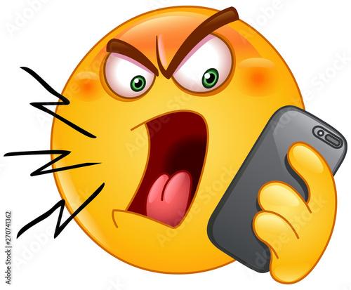 shouting on phone emoticon