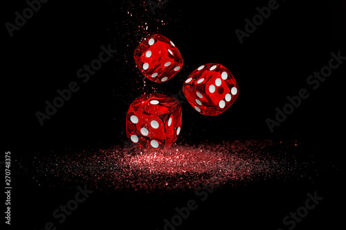 Photographie Illustration, Casino element isolation of the Casino dice, 3d Rendering