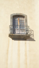 Loe Balcony High On Church Wall. La Laguna.tenerife