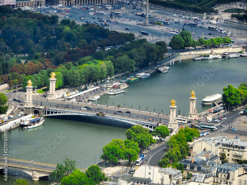 Foto op Plexiglas Historisch geb. view from Eiffel tower