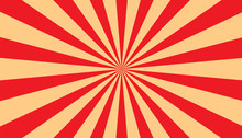 Sunburst - Abstract Red And Beige Background - Vector Illustration