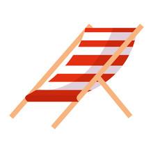 Beach Chair Stripes Relax Icon