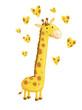 jirafa con corazones