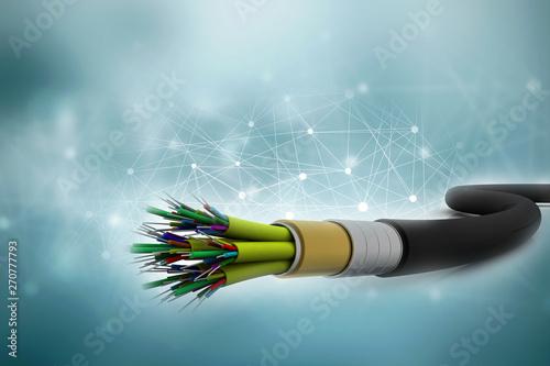 Photo 3d rendering aux cable