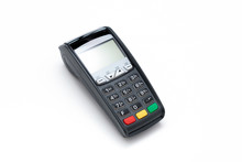 Credit Card Terminal On White Background