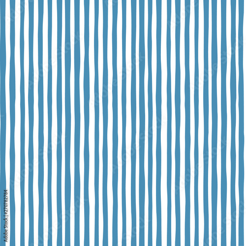 Vászonkép vector White and blue nautical seamless pattern