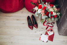 Brides Wedding Shoes With A Bo...