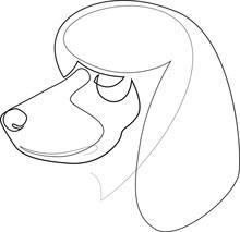 Continuous Line Poodle. Single Line Minimal Style Dog Vector Illustration. Portrait