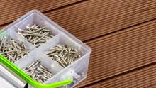 Assorted Screws In Plastic Box