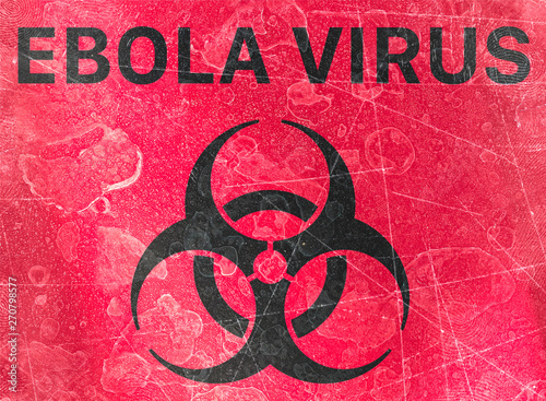 Sign indicating the presence of Biological hazards, biohazards, refer to biological substances that pose a threat to the health of living organisms Canvas Print
