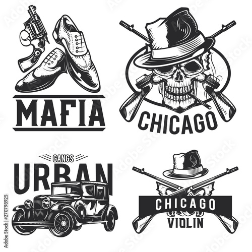 Tablou Canvas mafia emblems, labels, badges, logos