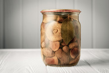 Glass Jar With Pickled Forest ...