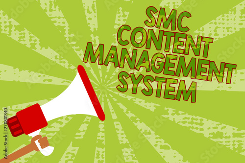 Photo  Writing note showing Smc Content Management System