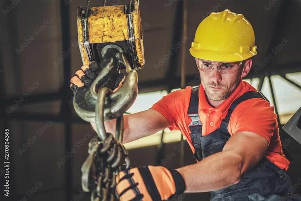 Fototapety, obrazy: Warehouse Lift Operator