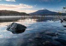 Morning At Mount Fuji And Lake Kawaguchiko