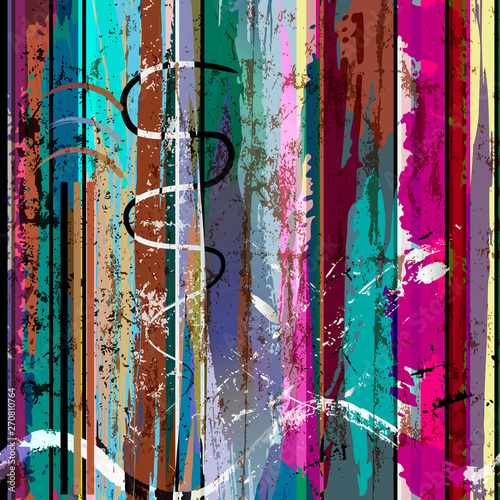 abstract background, with stripes, strokes and splashes, grungy Wallpaper Mural