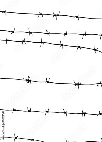 Isolated barbed wire on country border Canvas-taulu