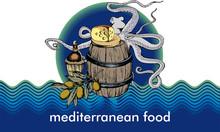 Mediterranean Food Vector Illustration. Engraved Style