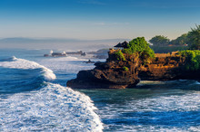 Tanah Lot Temple In Bali Island, Indonesia.