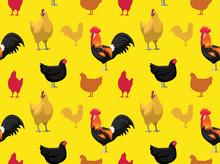 Chicken Australorp Cartoon Sea...