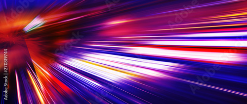 Obraz Panoramic high speed technology concept, light abstract background - fototapety do salonu