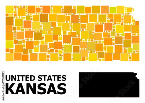 Gold Square Pattern Map of Kansas State - Buy this stock ... on road map of kansas, antique map of kansas, large map of kansas, physical map of kansas, radon map of kansas, blank map of kansas,